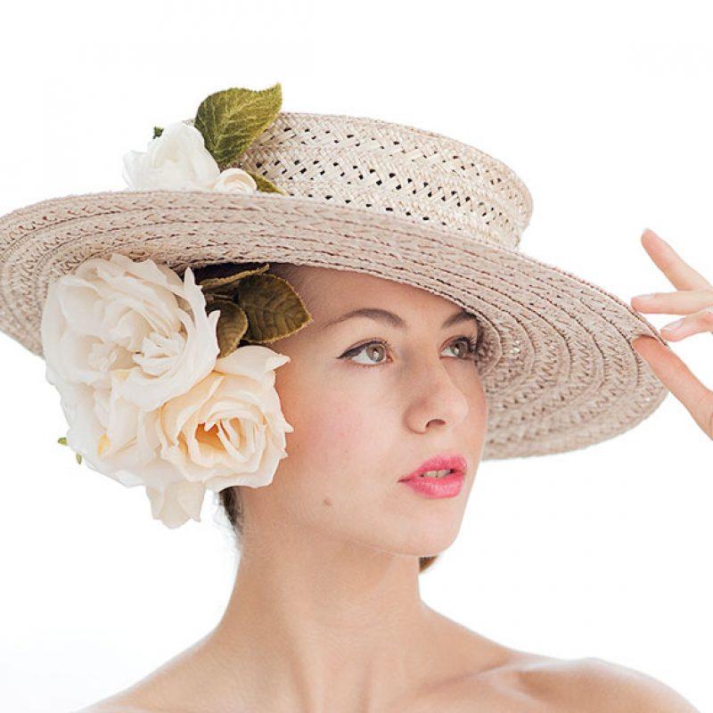 sombrero cordobes flores ceremonia