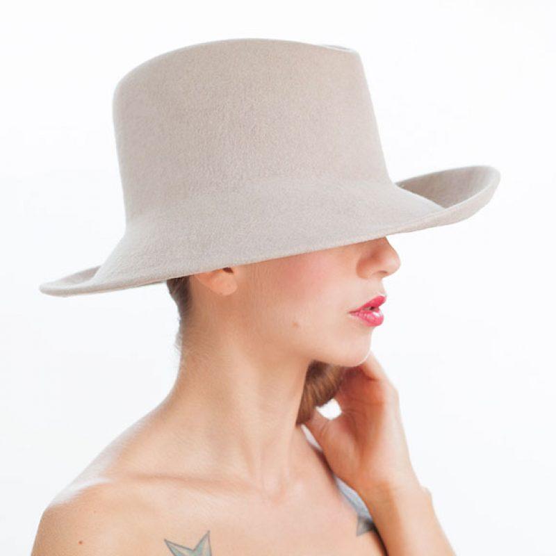 fedora fieltro alta sombrerería